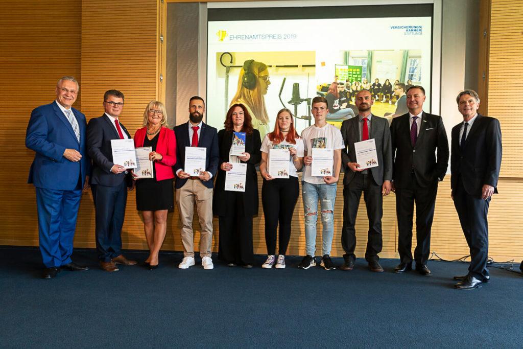 Die Preisträger des Ehrenamtspreises 2019