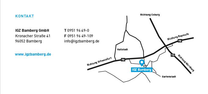 Anfahrtsskizze igz Bamberg