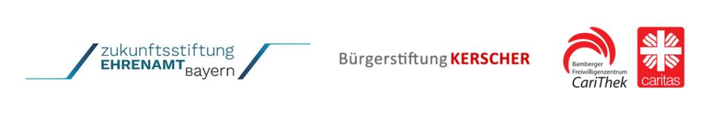 Kooperationspartner: Zukunftsstiftung Ehrenamt Bayern, die Bürgerstiftung Kerscher und das Freiwilligenzentrum der Carithek Bamberg
