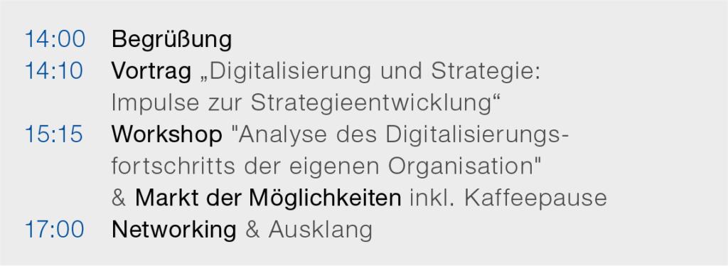 Programm - Forum Ehrenamt Digitaliserung gestalten 2020