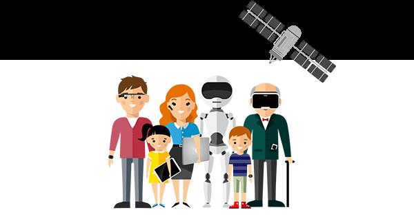 Flyer - Digitale Entdeckungstour auf dem 'Markt der Möglichkeiten'